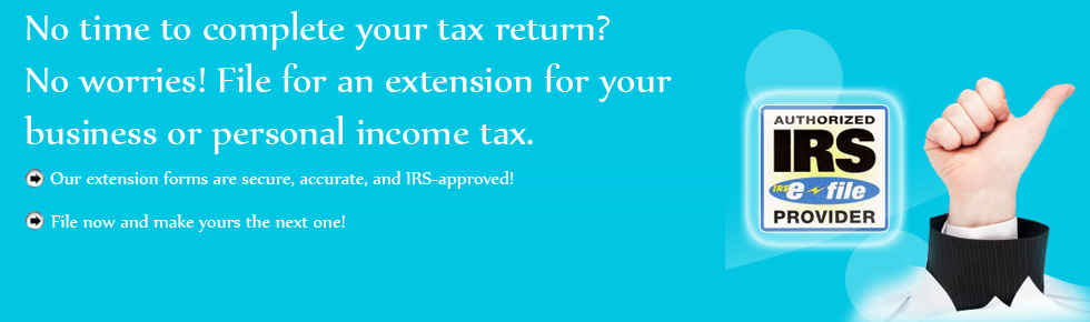 Tax Extension Online Irs Form 7004 4868 E File Tax Extension